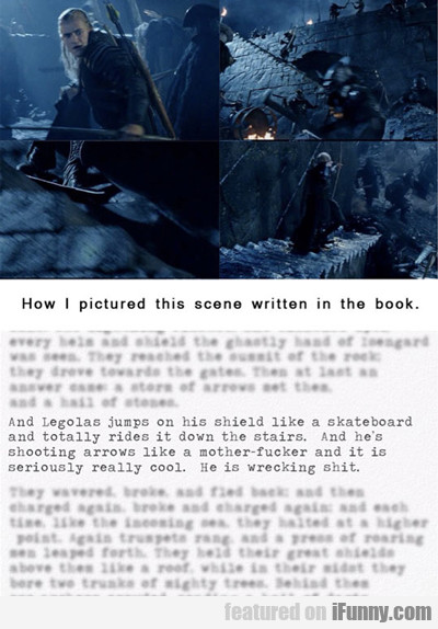 How I Pictured The Scene Written In The Book...
