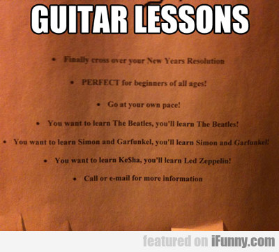Guitar Lessons...