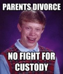 Parents Divorce, No Fight For Custody...