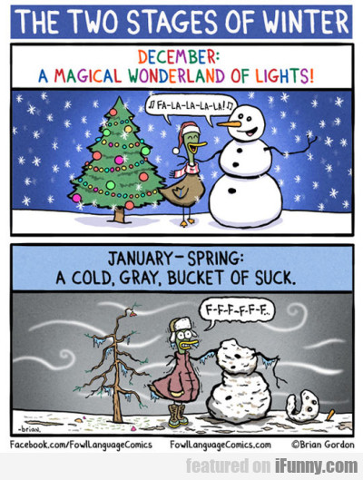 The two stages of winter