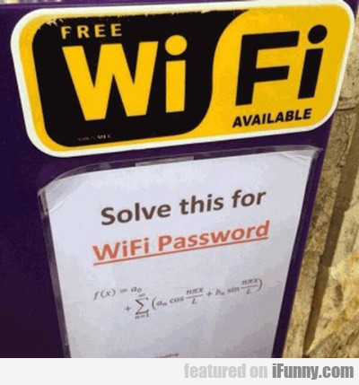 Free Wifi Available...
