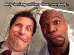 Andy Samberg And Terry Crews...