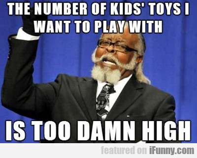the number of kids' toys...