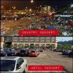 Country Concert Vs Metal Concert