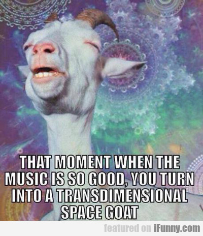 that moment when the music is so good...