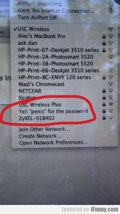 Yell Penis For The Password...