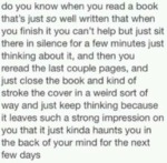 Do You Know When You Read A Book...