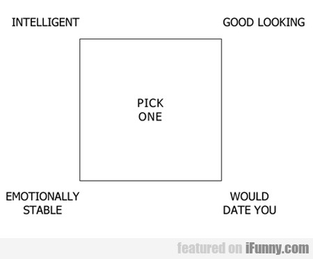 Pick One: Intelligent, Good Looking ..