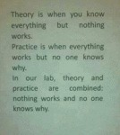 Theory Is When You Know Everything But Nothing..