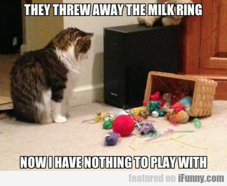 They Threw Away The Milk Ring Now I Have Nothing..