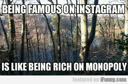 Being Famous On Instagram...
