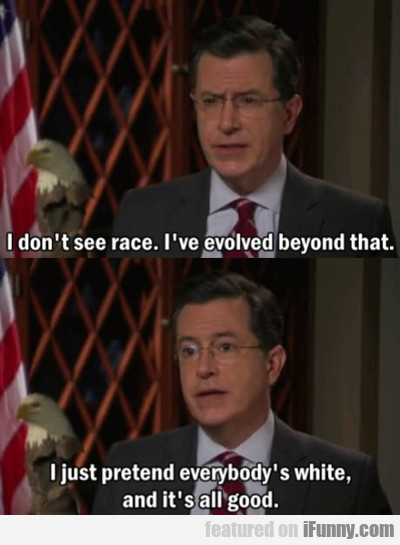 i don't see race...