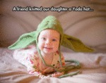 A Friend Knitted Our Daughter A Yoda Hat