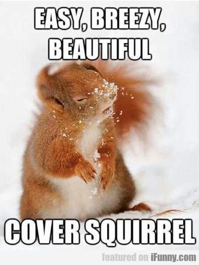Easy, Breezy, Beautiful Cover Squirrel...