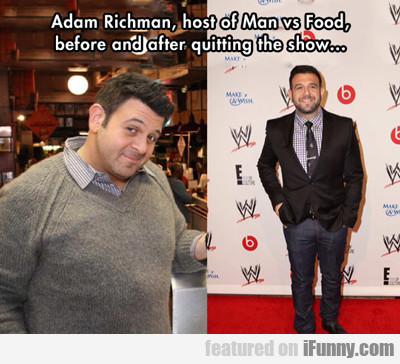 Adam Richman, Host Of Man Vs Food...