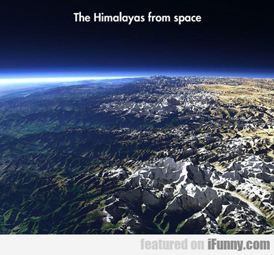 the himalayas from space...