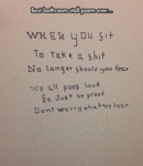 Best Bathroom Stall Poem Ever...