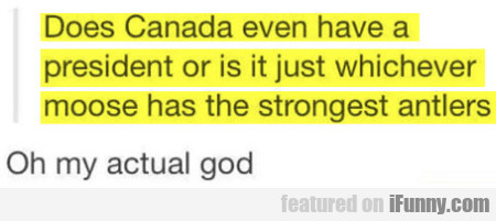 Does Canada Even Have A President Or..