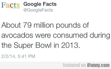 About 79 million pounds of Avocados were...