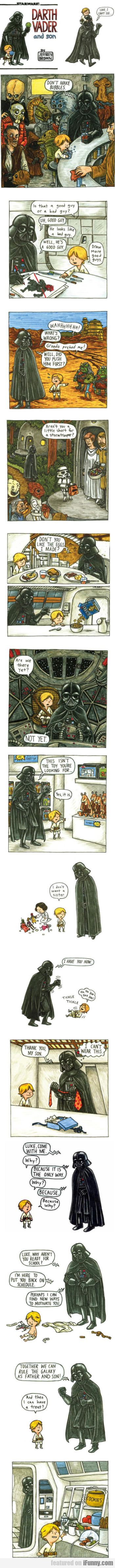 Darth Vader And Son - Luke I Can't See