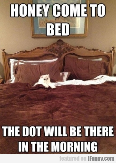 Honey Come To Bed. The Dot Will Be There...
