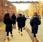 American Sorority Girls In Traditional Garb...