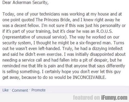 Dear Ackerman Security