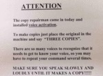 Attention. The Copy Repairman