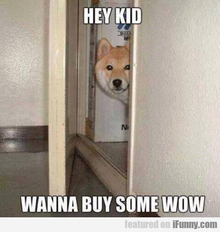 Hey Kid Wanna Buy Some Wow