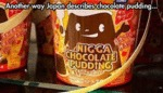 Another Way Japan Describes Chocolate Pudding...