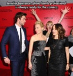 Jennifer Lawrence, Photo Bomb Professional...