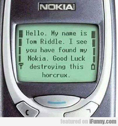 hello, my name is tom riddle. i see you have...