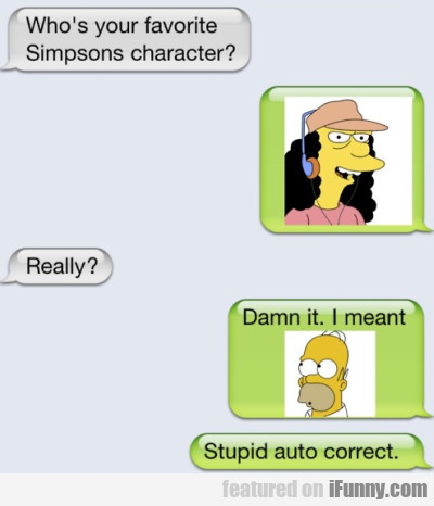 Who's your favorite Simpsons character?