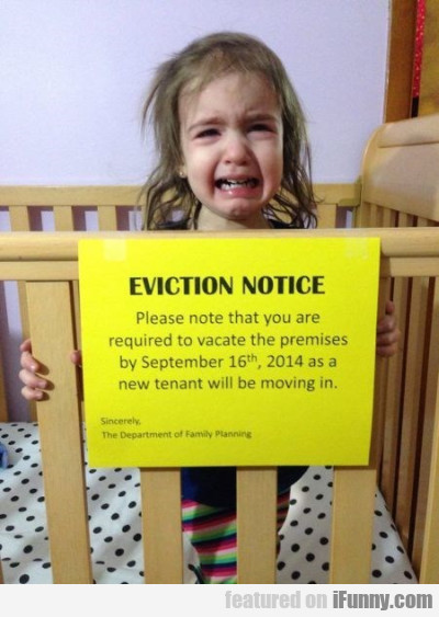 eviction notice please note that you are