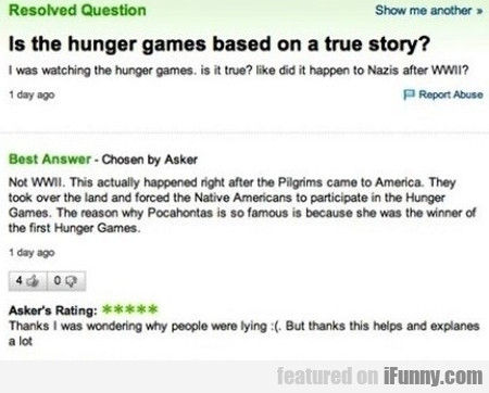 Is The Hunger Games Based On A True Story