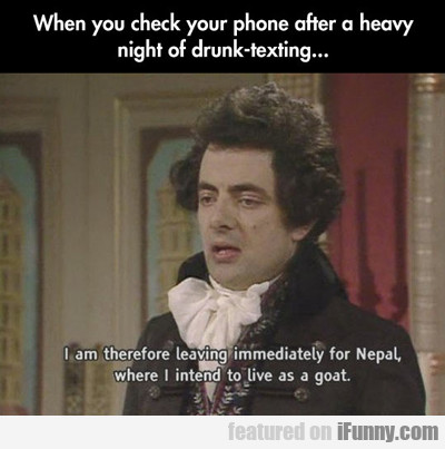 when you check your phone after...