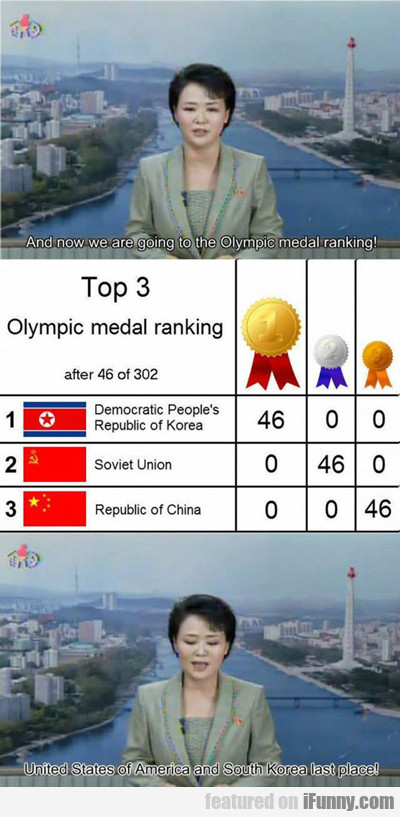 And Now We Are Going To The Olympic...