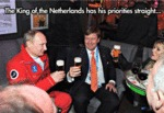 The King Of The Netherlands Has His Priorities...