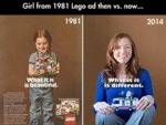 Girl From 1981 Lego Ad...