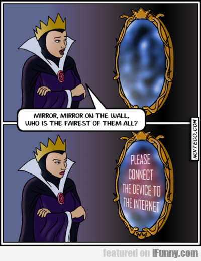 Mirror, mirror on the wall who is the fairest of..