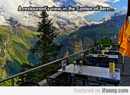 A Restaurant View In The Canton Of Bern...