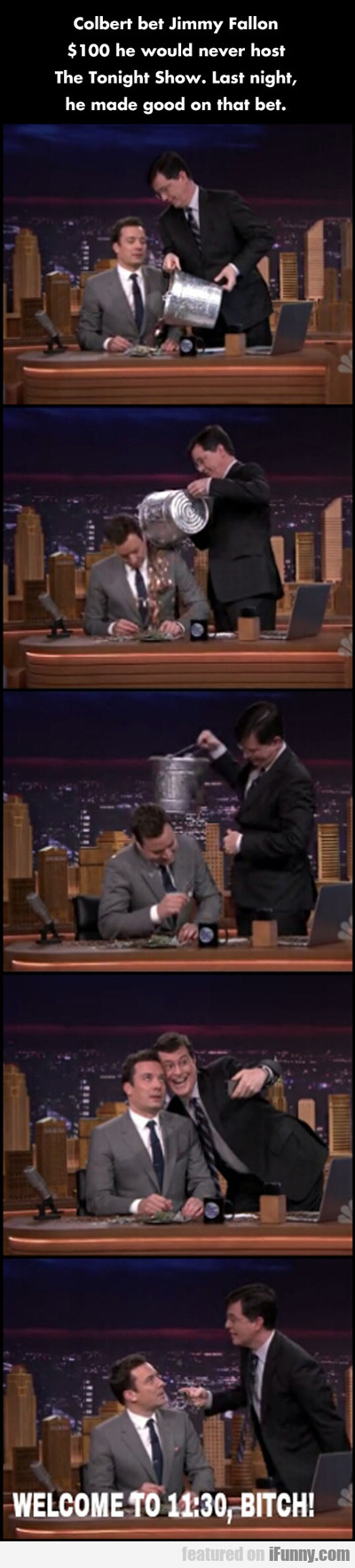 Colbert Bet Jimmy Fallon...