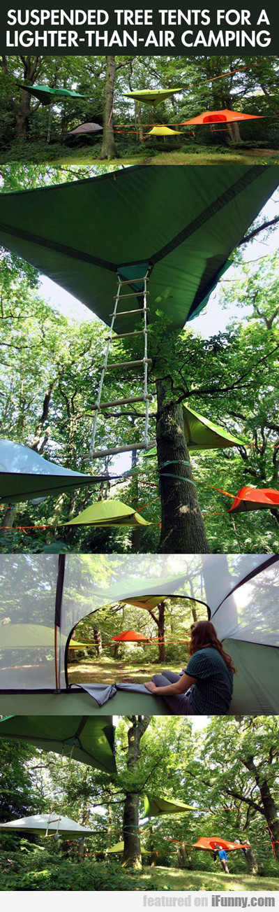 Suspended Tree Tents For Lighter Than Air Camping