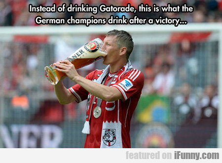 Instead Of Drinking Gatorade...