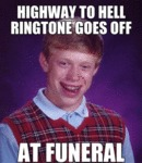 Highway To Hell Ringtone Goes Off...
