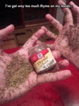 I've Got Way Too Much Thyme On My Hands...