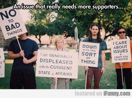 an issue that really needs more supporters...