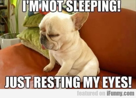 I'm Not Sleeping Just Resting My Eyes