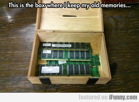 This Is The Box Where I Keep My Old Memories...