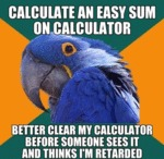 Calculate An Easy Sum On Calculator...